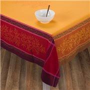 L'Ensoleillade - Jacquard Olive Jaune/Rge T/Cloth 300x160cm