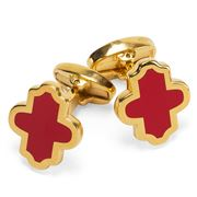 Halcyon Days - Single Agama Red & Gold Cufflinks