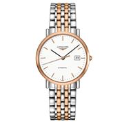 Longines - Elegant White Dial S/Steel & Rose Gold Watch 37mm