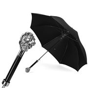 Pasotti - Umbrella Double Cloth Lion Silver
