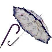 Pasotti - Retro-Style Butterflies Leather Handle Parasol