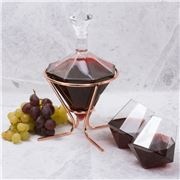 Thumbs Up - Diamond Decanter Set With Stand 4pce