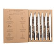 Degrenne - L'E Table Knives Stainless Steel Gift Set 6pce
