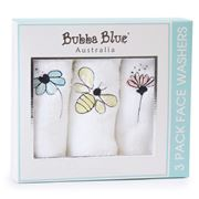 Bubba Blue - Bee Beautiful Face Washers 3pk