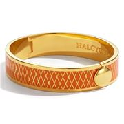 Halcyon Days - Parterre Orange & Gold Hinged Bangle