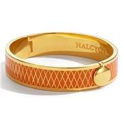 Halcyon Days -  Parterre Orange & Gold Hinged Bangle