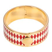 Halcyon Days - Parterre Red Cream & Gold Hinged Bangle