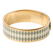 Halcyon Days - Parterre Grey Cream & Gold Hinged Bangle