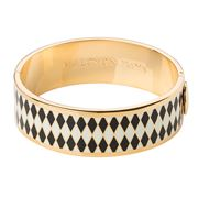 Halcyon Days - Parterre Black Cream & Gold Hinged Bangle