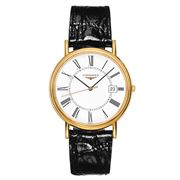 Longines - Presence White Dial Black Strap Watch 38.5mm