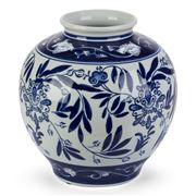 Florabelle - Hermes Ball Vase Blue/White