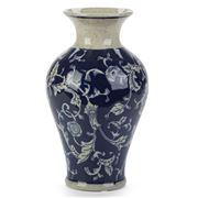 Florabelle - Emperor Blue & White Vase Small