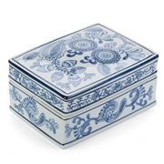 Florabelle - Paisley Box with Lid Blue/White