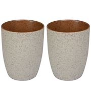 Robert Gordon -  Stoneware Latte Cups Set Rust Granite 2pce