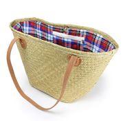 Robert Gordon - Wanderer Seagrass Tartan Bag w/Suede Handles