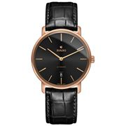 Rado - DiaMaster Thinline Ceramos Black Dial Watch 41mm