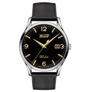Tissot - Heritage Visodate Black Dial & Leather Strap Watch