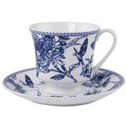 Ashdene - Indigo Blue Hummingbird Teacup & Saucer