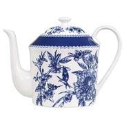 Ashdene - Indigo Blue Hummingbird Teapot With Metal Infuser