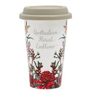 Ashdene - Aus Floral Emblems Dble Walled Reusable Travel Mug