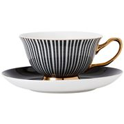 Ashdene - Parisienne Teacup & Saucer Black
