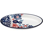 Ladelle - Fiesta Oval Platter Red 33.5cm