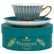 Ashdene - Parisienne Cup & Saucer Midnight Green