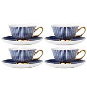 Ashdene - Parisienne Teacup & Saucer Set Navy 4pce