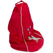 Cocoon Couture - Ted Turtle Bean Bag Cover Red Small