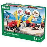 Brio - Rail & Road Crane Set 26pce
