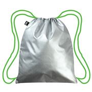 LOQI - Silver Green Drawstrings Backpack