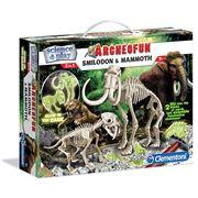 Clementoni - Archeofun Smilodon & Mammoth