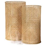 Ivory House - Weave Lantern Set 2pce