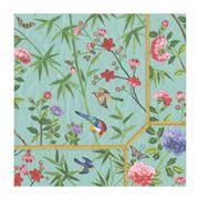 Caspari - Chinese Wallpaper Luncheon Napkins Turquoise 20pce