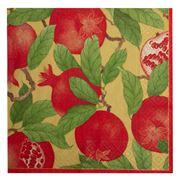 Caspari - Pomegranate Luncheon Napkins Gold 20pce