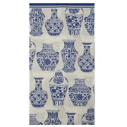 IHR - Rosannebeck Blue & White Urns Guest Towels 16pce