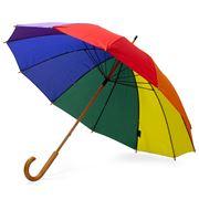 Clifton - Rainbow 12 Rib Wooden Handle Umbrella Rainbow