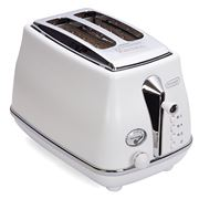 DeLonghi - Icona Elements Two Slice Toaster CTOE2003 White