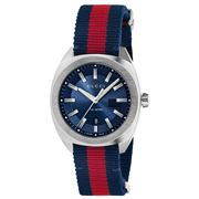 Gucci - GG2570 Blue Dial Blue & Red Strap Watch 41mm