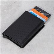 Secrid - Perforated Leather Slim Wallet Black
