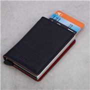 Secrid - Vegetable Tanned Leather Slim Wallet Navy
