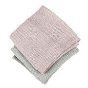 Raine & Humble - Waffle Tea Towel Set Taupe/Pink 2pce
