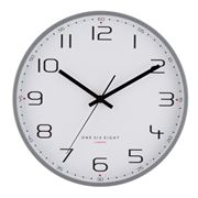 One Six Eight - Carmen Silent Wall Clock Cool Grey 30cm