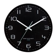 One Six Eight - Carter Silent Wall Clock Black 30cm