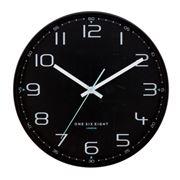 One Six Eight - Carter Silent Wall Clock Black 40cm