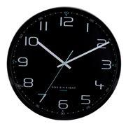One Six Eight - Carter Silent Wall Clock Black 50cm