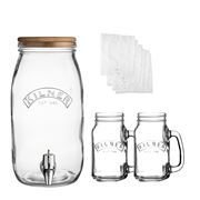 Kilner - Kombucha Glass Drinks Making Set 3L 5pce