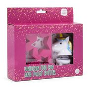 Thumbs Up - Unicorn Egg Cup & Toast Cutter Set 2pce
