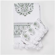 Cloth & Co - Paisley Sage Tablecloth 150x220cm