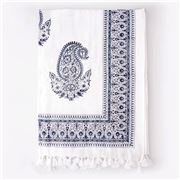 Cloth & Co - Paisley Tablecloth Blue 150x220cm